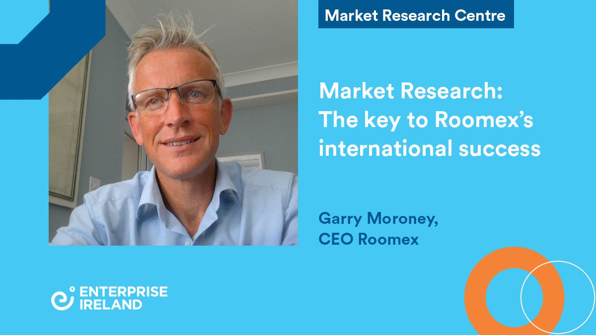 TItle; Market Resarch the key to ROmmex's international success. Photo of CEO Gary Moroney