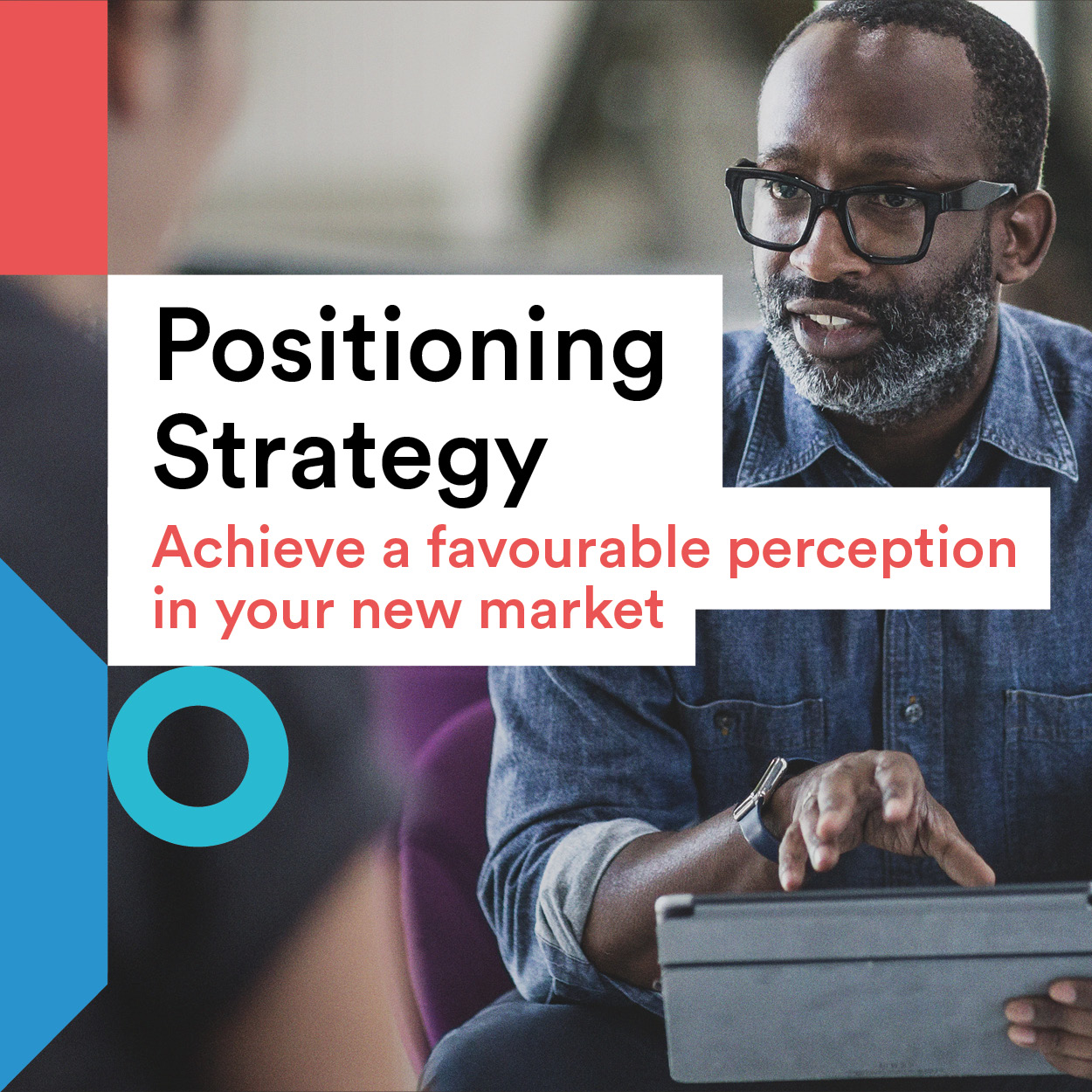 Positioning Strategy title and businessman