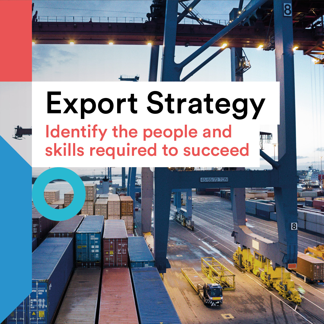 Export Strategy title and port image