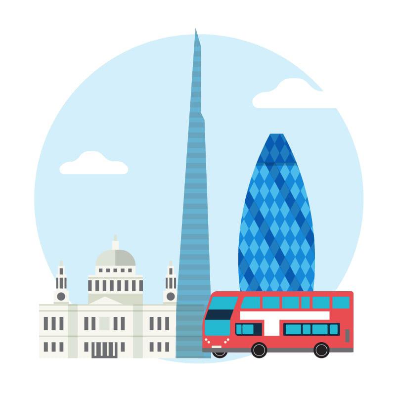 icon depicting UK