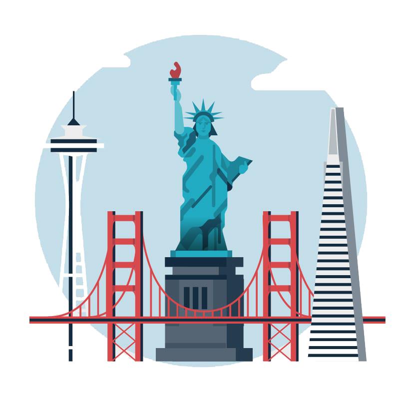 icon depicting USA