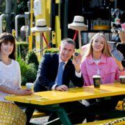 Jenny Melia, Minister Damien English, Katie Farrell